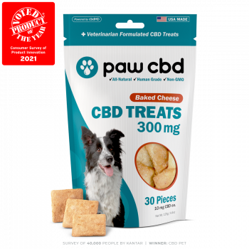Paw CBD Dog Treats 30 Count Baked Cheese 300mg